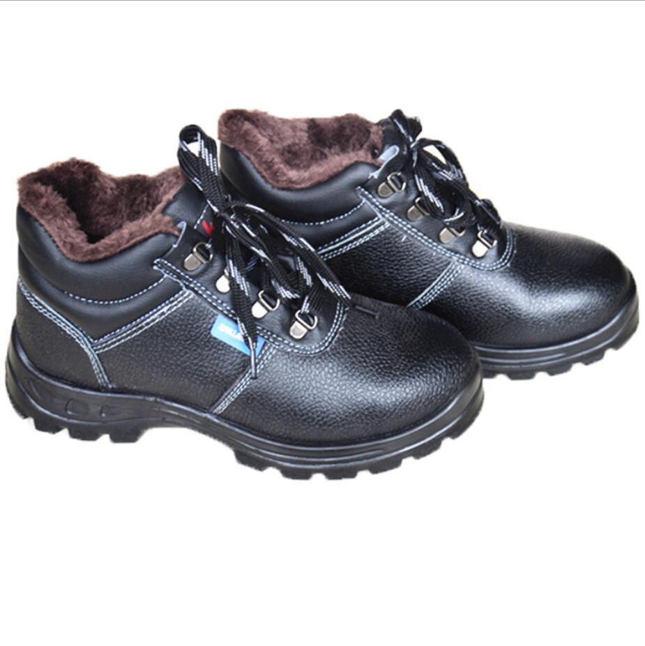 Black Anti smashing workwear stab proof steel toe smash puncture insulated shoes FW-JY0010