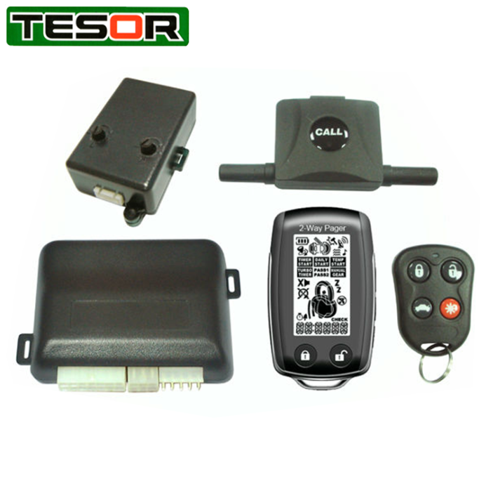Hot selling LCD 2-way remote vehicle starter with slim type
