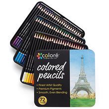 professional wooden art 72 colored pencils set