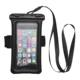 Universal TPU Mobile Phone Waterproof Underwater Case Cover Bag Dry Pouch +Arm Strap
