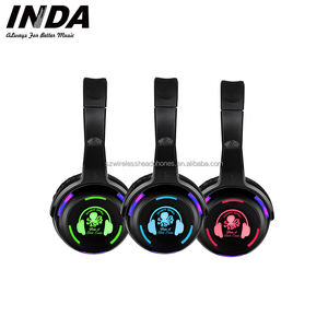 Shenzhen Pesta Disko Diam Wireless Headphone Stereo Headset Dipimpin RF