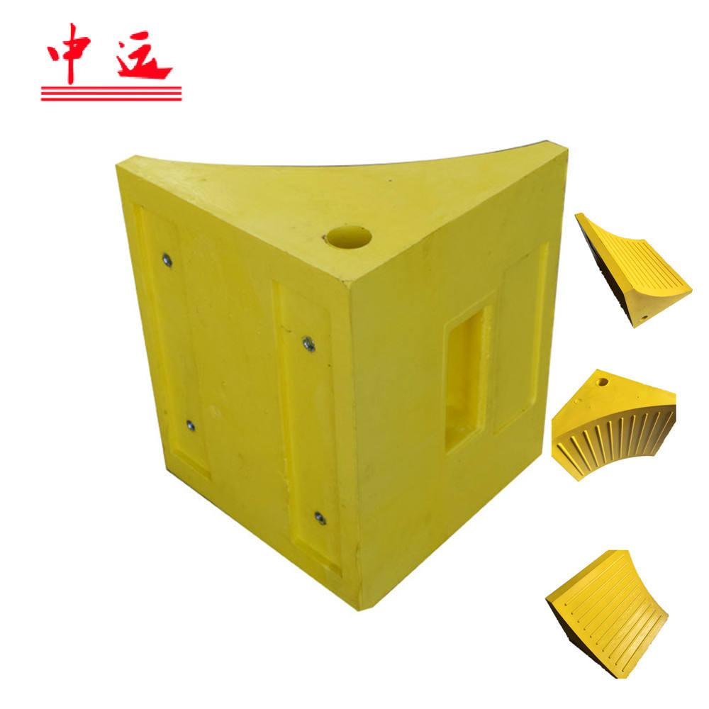 Оранжевый/желтый PU колеса chock блок для 60 т автомобили Грузовики тяжелых транспортных средств