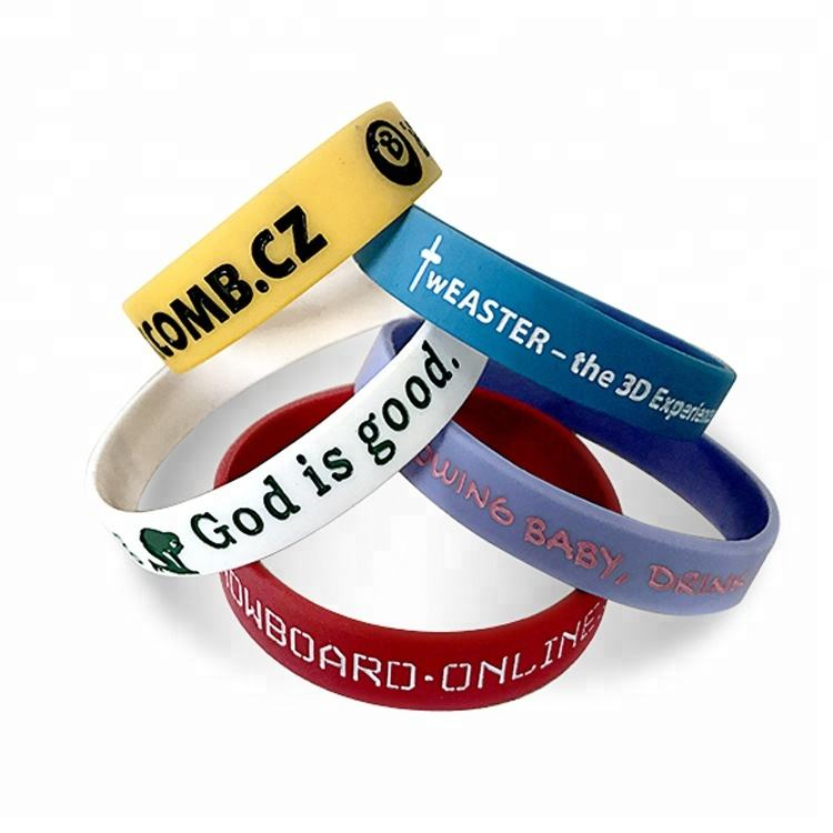 Custom Promotional Silicon Bracelet,Adjustable Silicon Wristband,Promotion rubber festival sport pvc Wrist Band