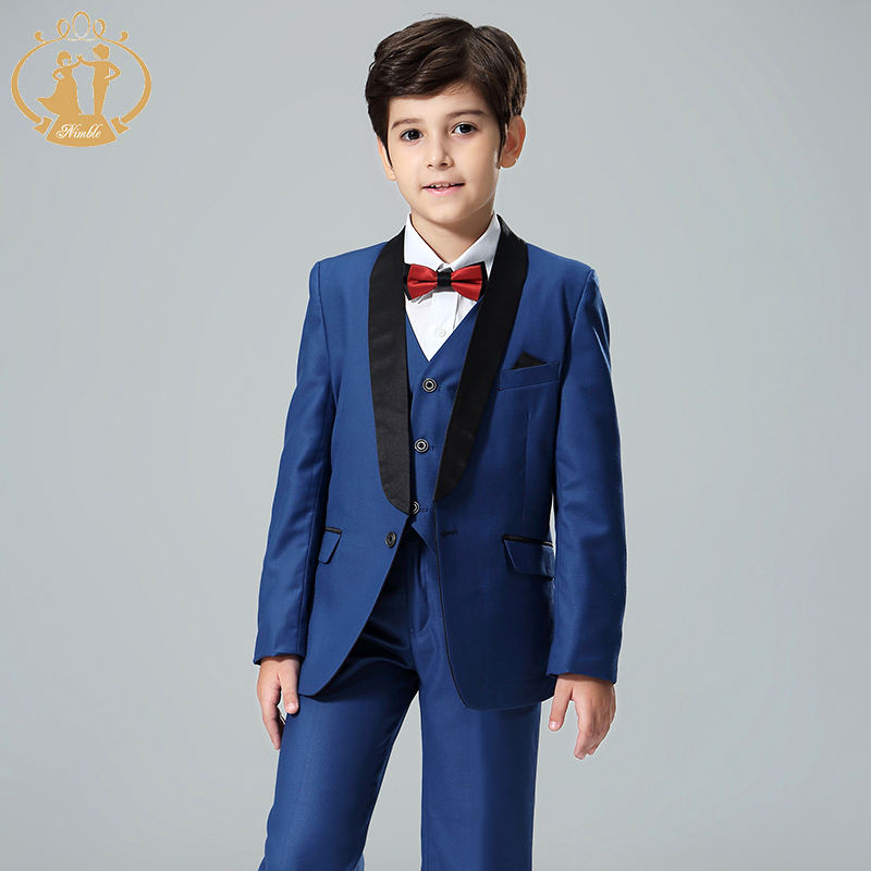 Nimble 1-6years High Quality Three Pieces Boy Suit Set Wedding Piano Costumes Kid Suit Party Clothes Baby Boy Suit