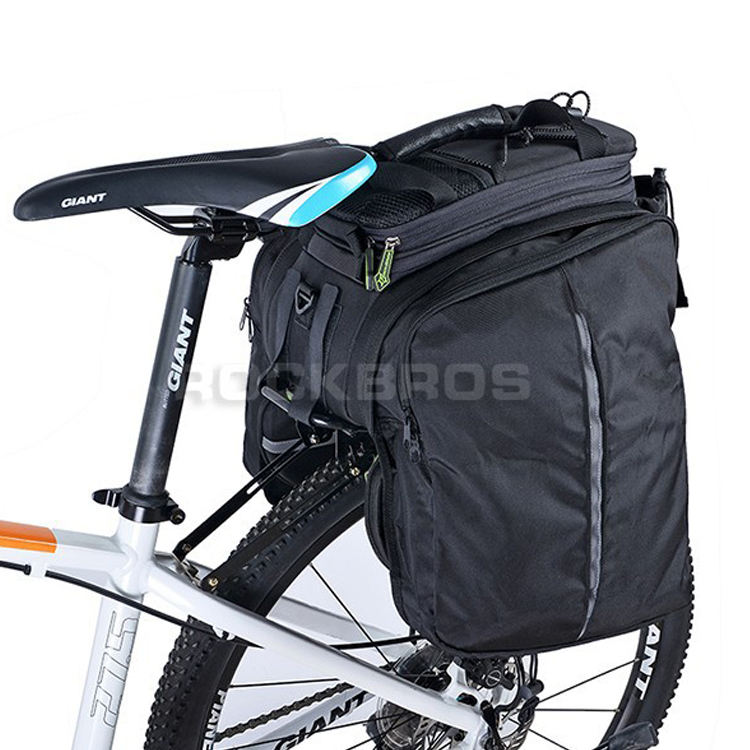 ROCKBROS Cycling Rear Saddle Pack Bicicleta Multi-fonction Bags 3 in 1 bicycle Rear Carrier Bag Rear Pack Trunk bike Pannier