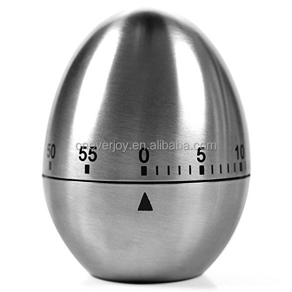 2018 MARCH EXPO Special Offer Stainless Steel Egg Shaped Mechanical Rotating Alarm with 60 Minutes for Cooking Kitchen Timer