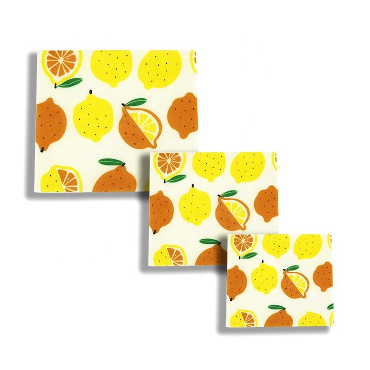 Fda Certified Eco Friendly Beeswax Food Wrap Paper Beeswax Reusable Food Wraps