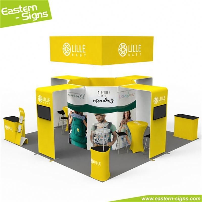 Professional manufacturer tension fabric display trade show environmental trade show booth ideas for small budgets