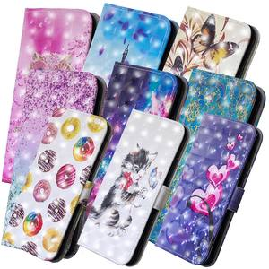 Lật Painted PU Leather + Wallet Bìa Trường Hợp Cho Coque Huawei Honor 7A 7C Pro 7 S Điện Thoại Capa Y5 thủ Y6 Pro 2017 Y9 2018 B322