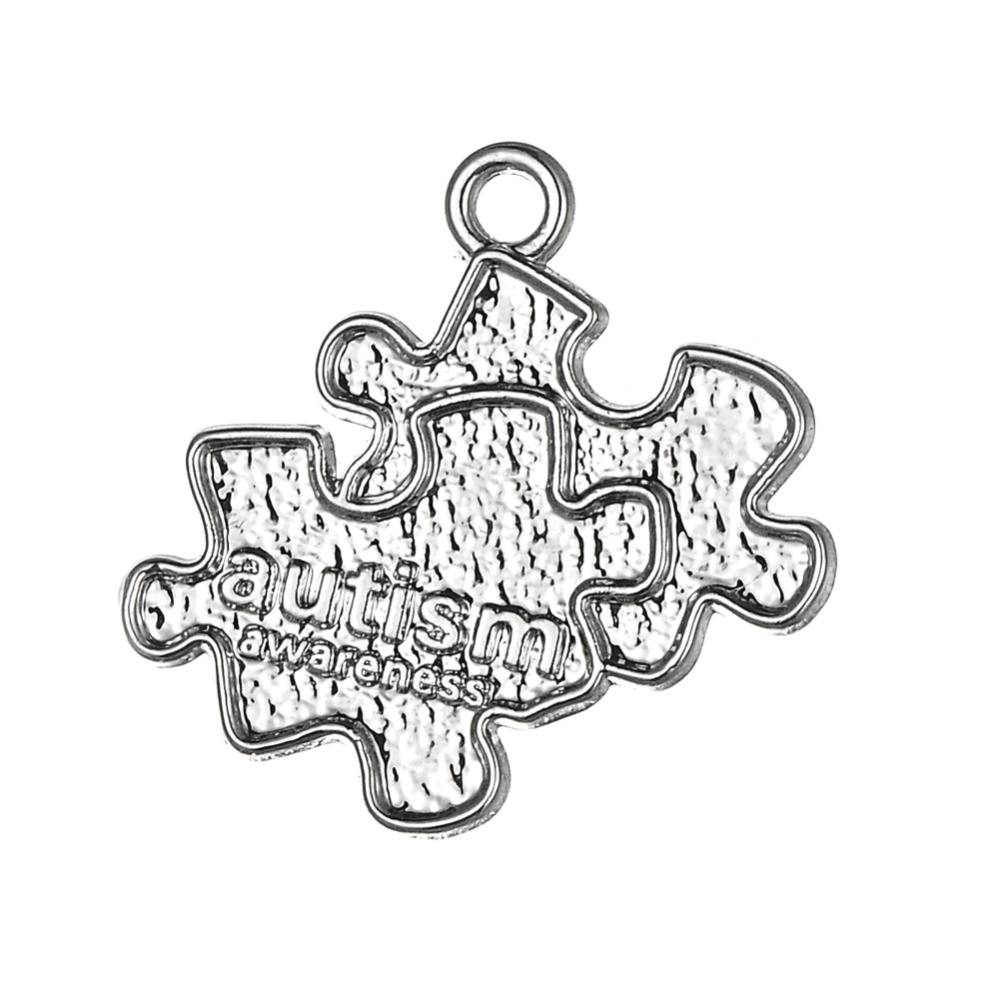 Autism Awareness Jigsaw Puzzle Piece Charms Pendant Jewelry Making