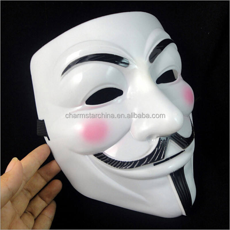 The V untuk Pesta Cosplay masker Masker Vendetta Anonymous Guy Fawkes Fancy Dress Dewasa Kostum Aksesori mascaras macka halloween