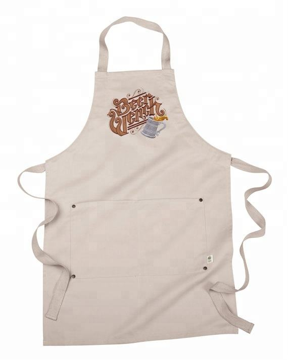 custom printing recycle eco organic cotton kitchen apron