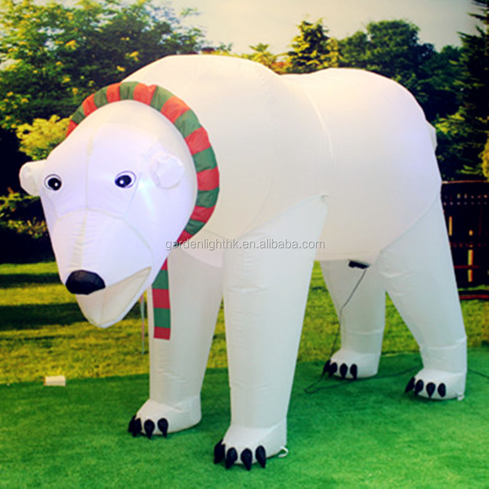 China Factory High Power Motion LED Airblown Inflatable Bear
