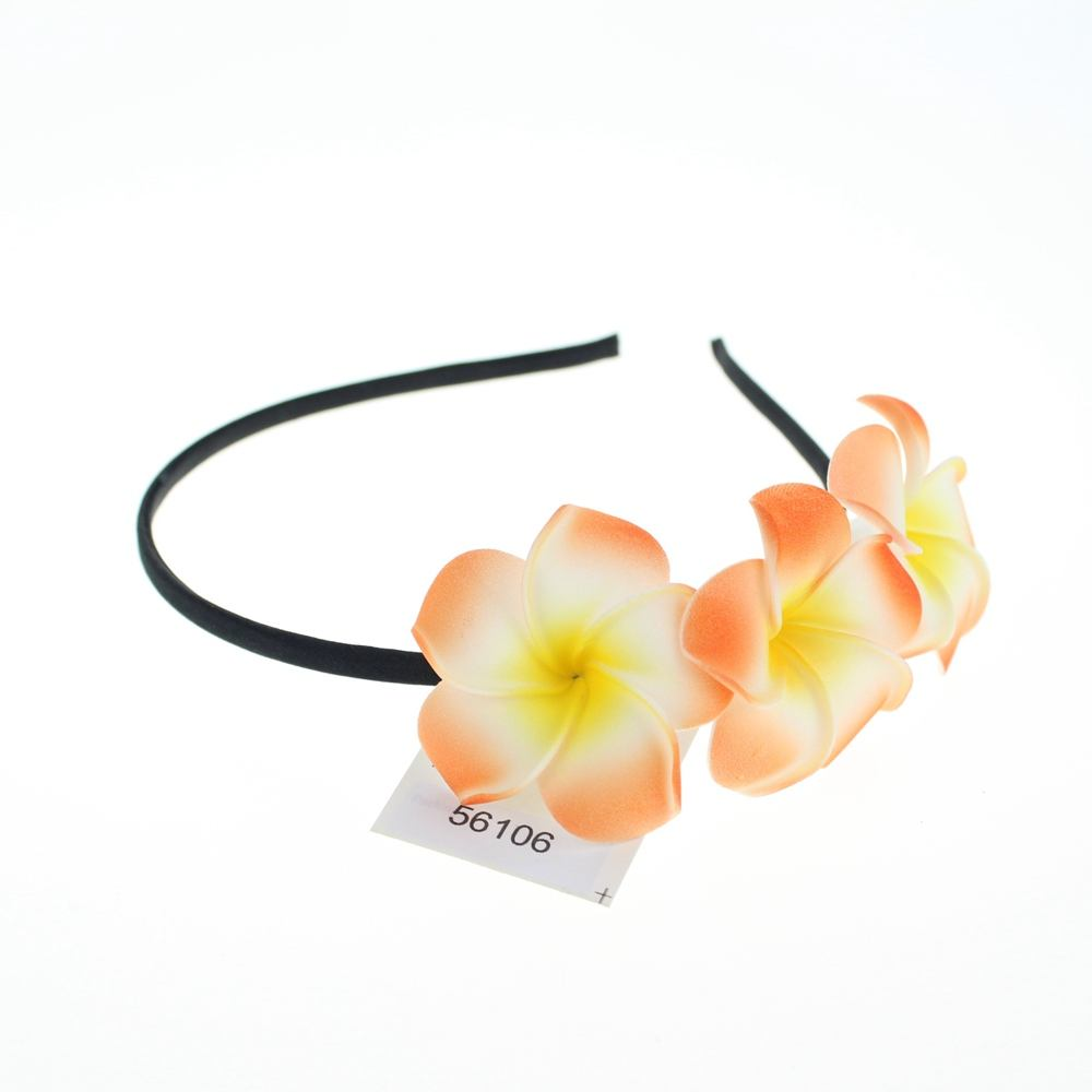 Beach wedding party 3 plumeria foam flowers Frangipani hawaii hair clip for crafts #56106