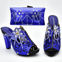 Sinya New Arrival Handmade italian shoes bag set Beautiful Wedding High Heel shoes to match bag set