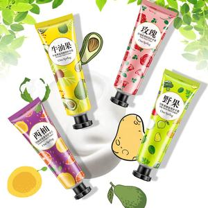 Best selling portable hand cream private label fruit hand cream for soothing dryness