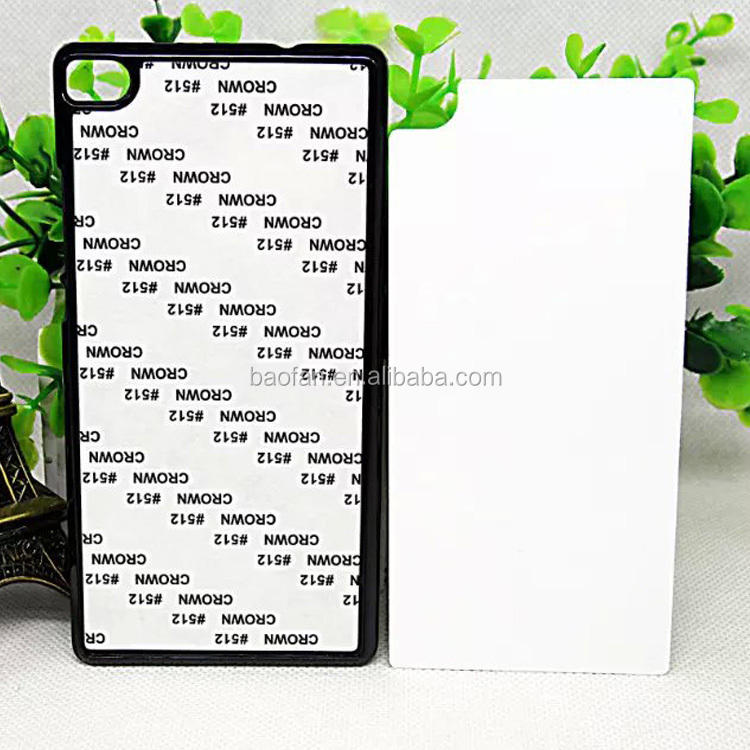 sublimation blank cell phone case 2D heat sublimation PC phone case for Huawei P8