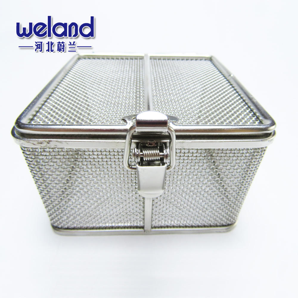 Factory Price Custom Stainless Steel Medical Disinfection Micro Mesh Box with Lid