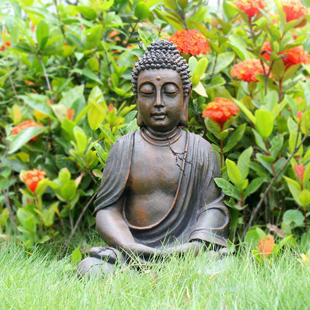 Hand carved buddha sculpture outdoor garden decoration for sale.