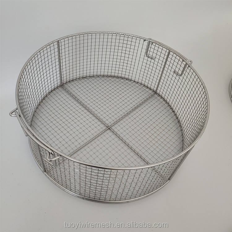 Cleaning instrument stainless steel basket
