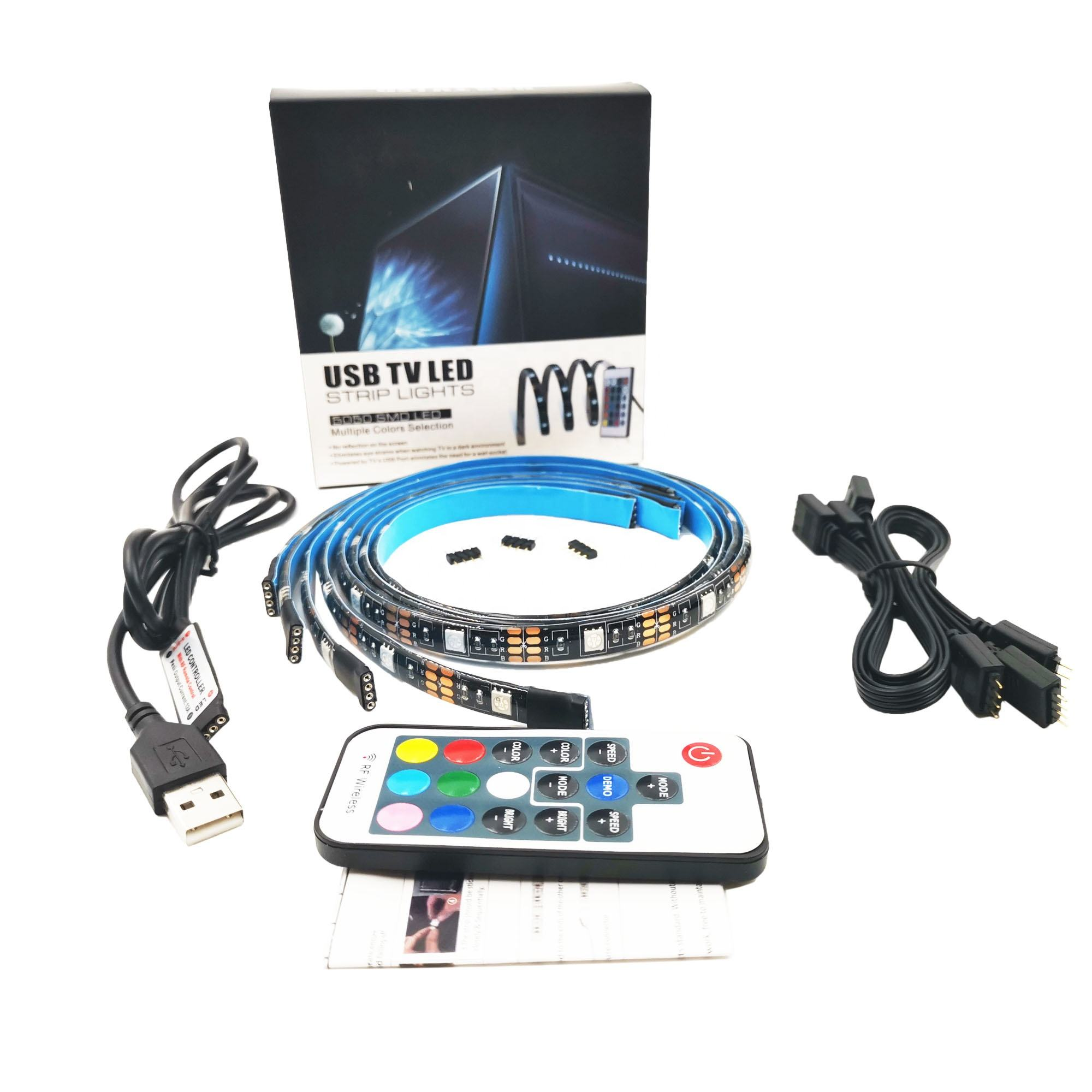 KTV Bar decoration waterproof 5V USB 5050 RGB led strip TV led bar backlight