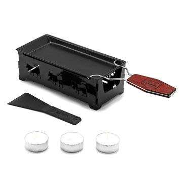 Non-Stick Metal raclette cheese grill plate with Solid Wood Handle Bakeware