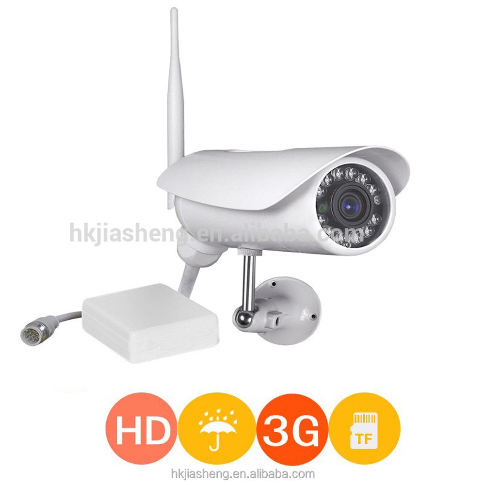 1MP HD outdoor waterproof free google play store app 3g sim card ip camera with sd card slot up to 128G