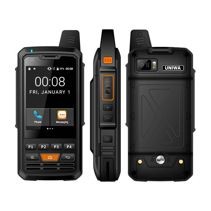 UNIWA F50 2.8 Inch Touch Screen Big Battery Unlocked OEM Loudspeaker Belt Clip 3G 4G LTE Zello PTT Walkie Talkie Mobile Phone