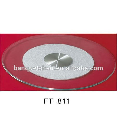 Wholesale banquet table round tempered glass lazy susan with high quality