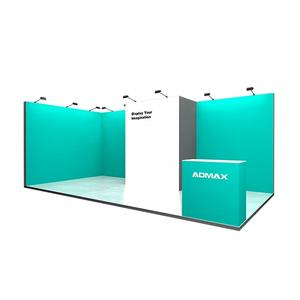 Modular Trade Show Exhibition Frameless Booth with LED Light Box Backlit