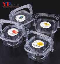 Hand basket cake box pastry fruit salad disposable creative transparent plastic blister package plastic injection mould