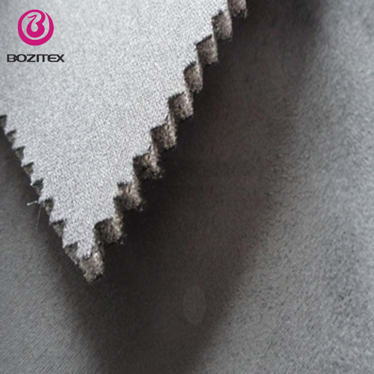 car decorative fabric suede with foam backing thick fabric