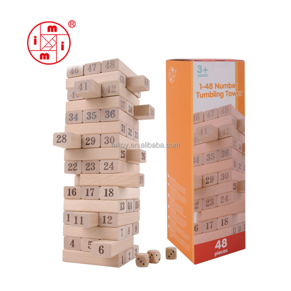 Wood [ Yunhe Toy Wooden ] Yunhe Classic Toy Wooden Connecting Building Blocks