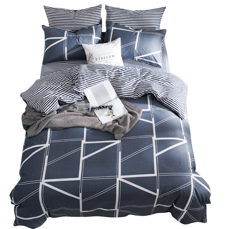 Comfortable and soft touch pure cotton lkea series bedding set of four