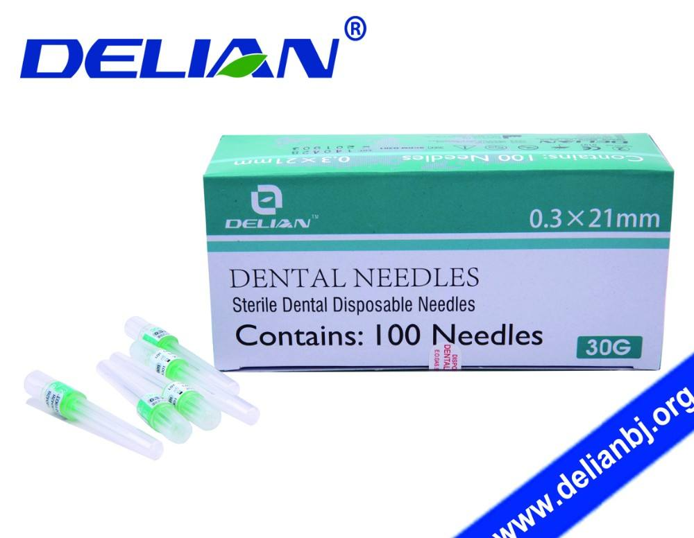 Delian Dental Needles Metric or Imperial Sterile Disposable Dental Needle for Injection Anesthesia