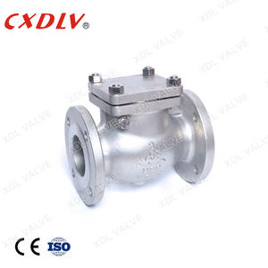 One Way Non Return Valve Cast Steel Flanged Swing Check Valve