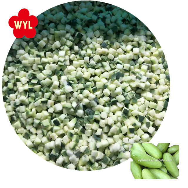 2017 Crop IQF Vegetables Frozen Zucchini Diced