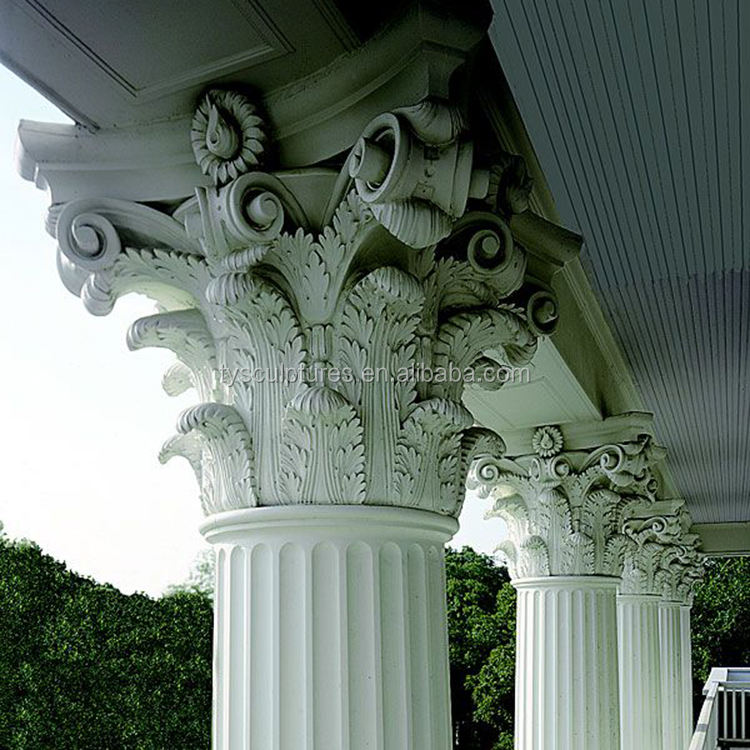 antique classic European design decorative stone marble column pillar for hall house building ornament