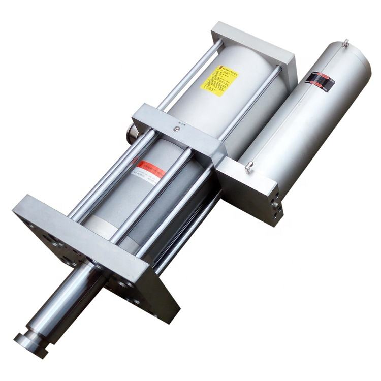 Fast speed pneumatic boosting hydraulic cylinder for punching machine