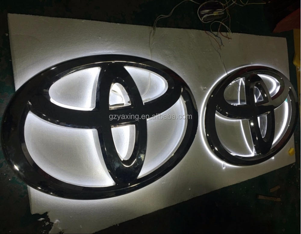 4S Store Shop Chrome Led Lighted All Car Brand Logo led backlit letters