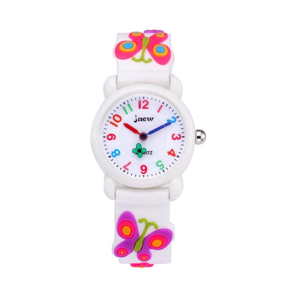 Manufacturer wholesale fashion beautiful waterproof cartoon kids watch