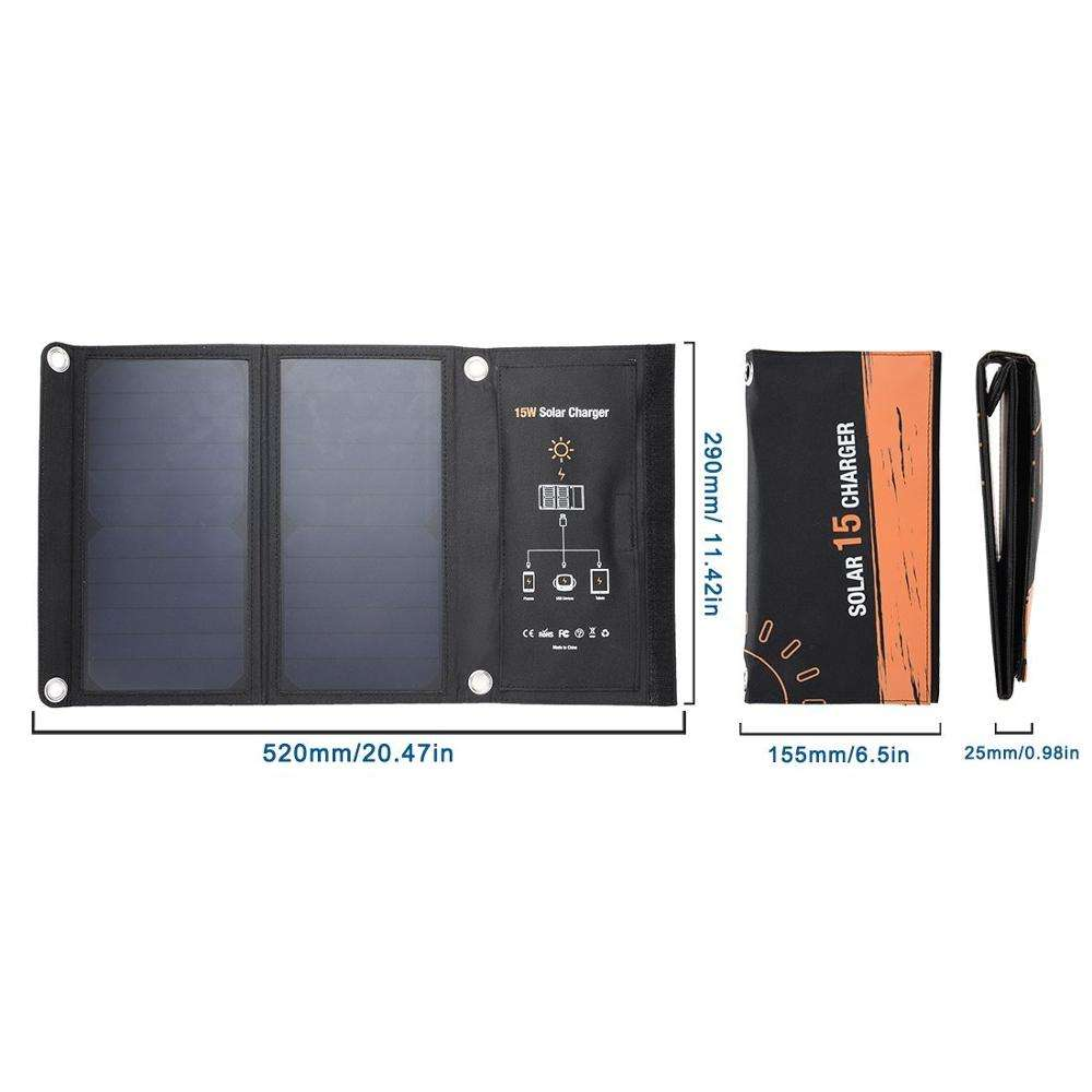 ready to ship Portable Solar Panel 15w sunpower Solar Charger