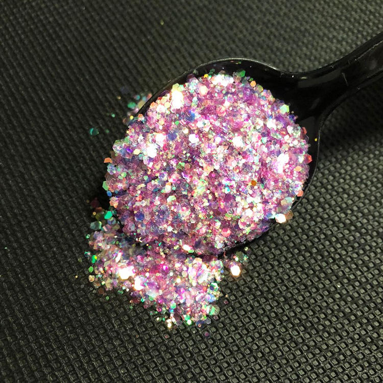 Glitter Powder High Temperature Solvent Resistance And Acid-alkaline Resistant Beauty Polyester Glitter Powder For Nail Art Decoration
