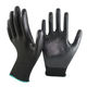 SRSAFETY 13 gauge knitted nylon coated black nitrile gloves/working nitrile gloves/safety working gloves