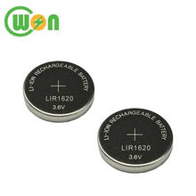3.6V Li-ion Rechargeable Button Cell Battery LIR1620