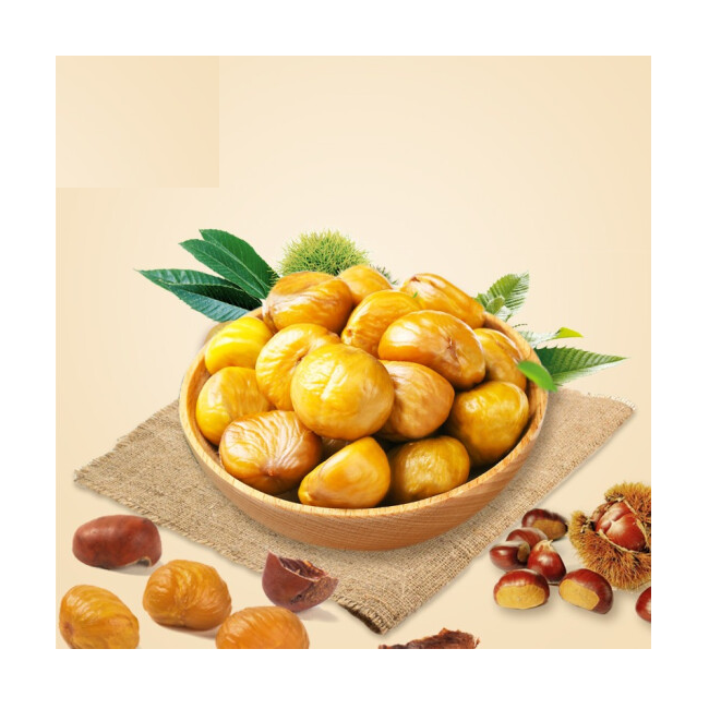 Organic chestnuts roasted peeled small package chestnut snack