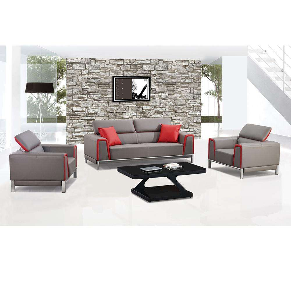 New Design Modern Leather Sofa Set for Office W7777 office furniture