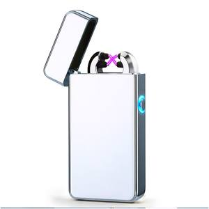 China wholesale Flameless USB rechargeable double arc lighter/electric lighter