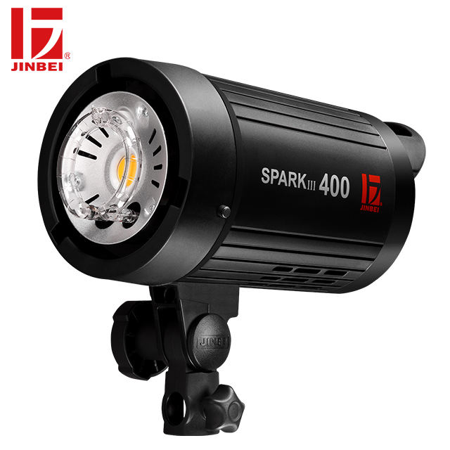 JINBEI SPARKIII-400 400Ws/GN66 Portable Photographic Flash Built in 2.4G Wireless System/Portrait photography Light for sale