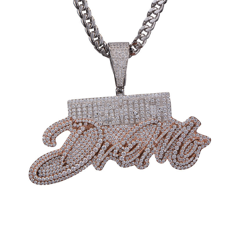 Custom Iced Out Gesimuleerde Diamond Big Size Combineren Letters Hanger